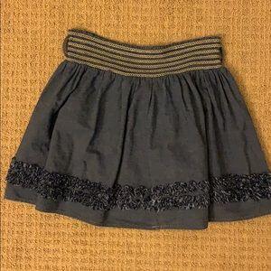 denim/fabric skirt